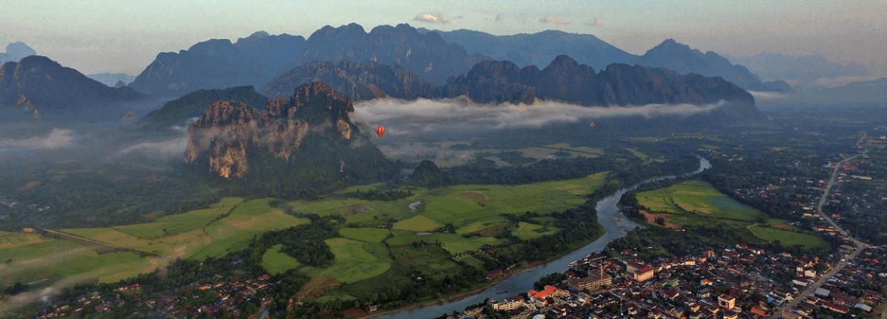 Nature between Capitals a road must travel and explore in Laos
