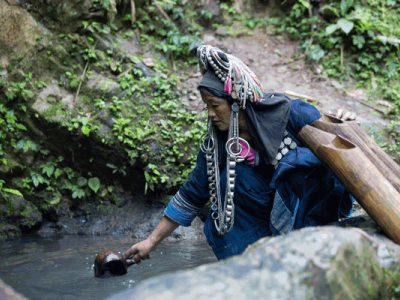 Ethnic tribes and a diverse culture and lifestyle Akha Tai Lue Lanten