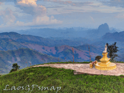 Luang Namtha on foot with local guides Muang sing Vieng Phouka Mekong temples stupas Buddha Buddhist