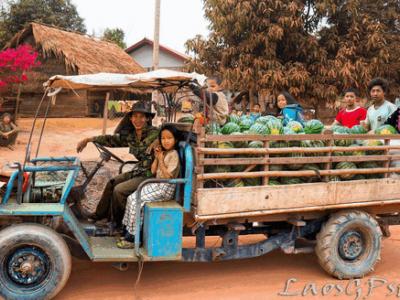 Bike or walk around Luang Namtha is the best way to explore Luang Namtha cycling tuk tuk bus transportation
